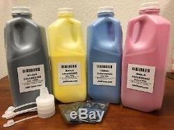 (1 000 G / 800 G) De Recharge De Toner 4 Pour Puce Konica Minolta Bizhub C452, C552, C652 + 4