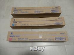 3 Toniques De Couleur D'origine Konica Minolta Bizhub C454e C554e Set Tn512c Tn512y Tn512m