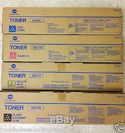 4 Nouveau! Genuine Konica Minolta Bizhub C300 C352 Tn312k Tn312m Tn312y Tn312c