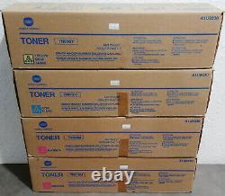 4 Pk Konica Authentique Bizhub C6000 C7000 Toner Cmmy Nouveau Oem Tn616c Tn616m Tn616y