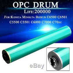 4pcs Opc Drum Pour Konica Minolta Bizhub C5500 C5501 C6500 C6501 C6000 C7000