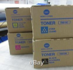 Accuriopress / Bizhub Coffret Toner Konica Minolta Tn619 Cmyk 4 C1070 1060 2070 2060