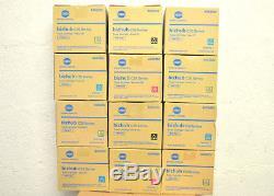 B Lot 11 Toner Original Konica Minolta Tnp-22y 22c 22m 22k Bizhub C35 Véritable