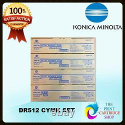 Drum Set Konica Minolta A2xn0td Dr512 A2xn0rd Dr-512k Cmyk Bizhub C554 C224 C364