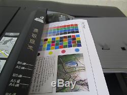 Konica Bizhub C754 Photocopieur / Photocopieuse Couleur Et Finisseur De Brochures