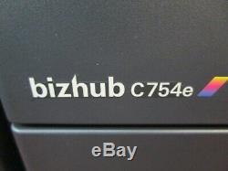 Konica Bizhub C754e Photocopieur Couleur / Copieur Et Livret De Finition