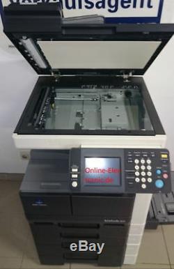 Konica Minolta Bizhub 222 A3 Kopierer S / W Und Unterschrank Inkl Toner # 31135