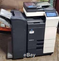 Konica Minolta Bizhub 224e Noir & Blanc Copieur / Imprimante Scanner + Module De Finition 71k