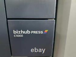 Konica Minolta Bizhub C1060 Presse Couleur Avec Unité D'alimentation En Papier, Finisher & Fiery