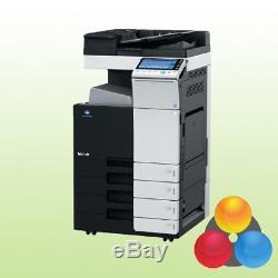 Konica Minolta Bizhub C224e Avec 4 Pf Kopierer Drucker Scanner Inkl. Toner Duplex