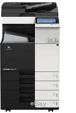 Konica Minolta Bizhub C224e Scanner Kopierer Drucker Télécopieur Wenig Gedruckt