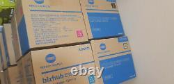 Konica Minolta Bizhub C3850 C3350 Toner Cartidge Noir Cyan Magenta Yel Full Set