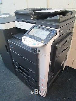 Konica Minolta Bizhub C552 Photocopieur Couleur Et Brochure Finisseur
