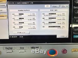 Konica Minolta Bizhub C554 Imprimante Tout-en-tout Couleur Avec Finisseur De Brochures