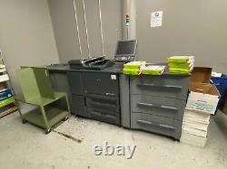 Konica Minolta Bizhub Presse 1250 Kopierer Drucker Scan 125 Ppm 3.8 MIL Meter