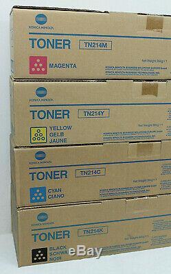 Konica Minolta Original Bizhub C200 Toner Set Tn214k Tn214c Tn214y Tn214m