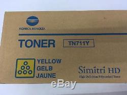 Lot De 6 Tonesr Oem Véritable Konica Minolta Bizhub C654 C754 Tn711k Tn711y Tn711m