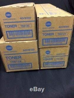 Lot De Toners Tn612 Cymk Konica Minolta Pour Bizhub Pro C5501 C6501, (vatexcl)
