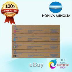 Nouveau Et Original Konica Minolta Tn324 Ensemble De Toner Complet De 4 Cmyk Bizhub C368 C308