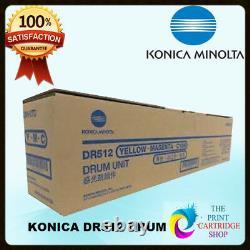 Nouveau & Original Konica Minolta Dr512 Jaune Magenta Cyan Drum Bizhub C224 C284