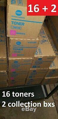 Oem Tn615 Cmyk, Lot De 16 Tonique D'origine Konica Minolta Bizhub Press C8000 / 1100