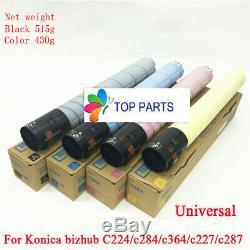 Set 4 X Toner Pour Konica Minolta Bizhub C224e / C284e / C364e / C227 / C287 Tn321 Tn221