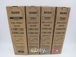 Set De Toner Cymk Compatible Pour Konica Minolta Bizhub Pro C5500 C5501