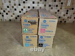 Tn319 Cmyk Lot Of 4 Genuine Konica Minolta Tn319 Set Toner For Bizhub C360 A5-5a