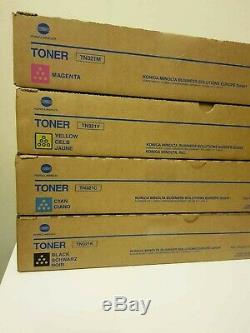 Tn321 Cmyk Set Konica Minolta Toner Véritable Scellé Bizhub C224 / C284 E / E C364 / E