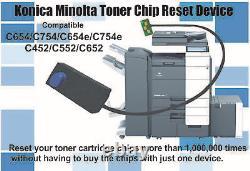 Toner Chip Pour Konica Minolta Bizhub C654, C654e, C754, C754e (tn712 Tn711)
