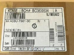 Véritable Konica Bizhub C5500 C5501 C6500 C6501 Fusung Belt 251l A03u736100